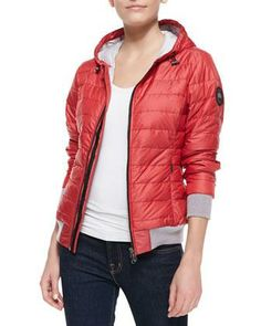 Canada Goose Sydney Hooded Puffer Jacket, Red - Neiman Marcus