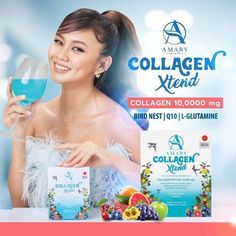 Amary Collagen Xtend promotes clear, healthy, and aura skin. With 100% premium collagen peptide imported from Japan which has 1,000 times smaller molecules than natural collagen, it helps fight against free radicals, reduces wrinkles and acne formation, hydrates skin, and nourishes hair and nails to be healthy.