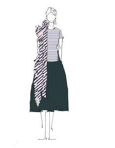 """Playful."" —Marcia Patmos, M.PatmosFashion Illustration   Fashion sketch   Mode Illustrations"