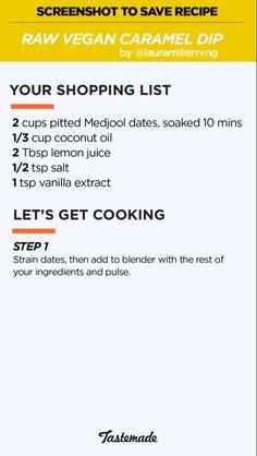 Raw vegan caramel dip
