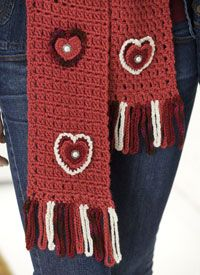 Caron International | Free Simply Soft® Project | Valentine Scarf Duo