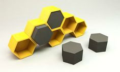 Quinze Milan by Clive Wilkinson - Honeycomb and Honeypouf