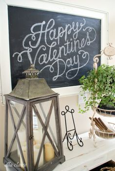 Valentine's Day Chalkboard sign