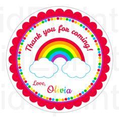 Rainbow Birthday Favor Tags  Rainbow Tags  for by kidEprints, $5.99