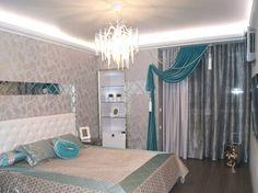 Шторы, покрывало и подушки для спальни. #Шторы #Интерьер #Спальня