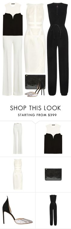 """Black + White"" by cherieaustin on Polyvore featuring Roland Mouret, Calvin Klein Collection, Antonio Berardi, Alexander McQueen, Francesco Russo and Martin Grant"