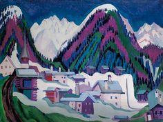 Ernst Ludwig Kirchner:   Village Monstein near Davos.  (1927)  Location: Essen, Museum Folkwang