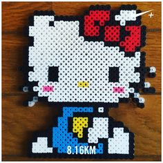 Hello Kitty perler beads by yo_si516