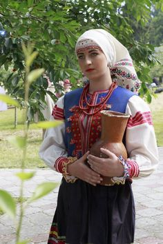 Lemko girl in traditional clothes