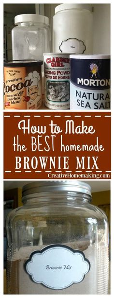 to Make Brownie Mix Easy homemade alternative to store bought brownie mixes.Easy homemade alternative to store bought brownie mixes. Homemade Cake Mixes, Homemade Brownie Mix, Homemade Brownies, Homemade Spices, Homemade Seasonings, Homemade Sweets, Homemade Food, Potpourri, Brownie Mix Recipes