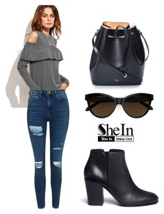 """""""SHEIN T-Shirt"""" by tania-alves ❤ liked on Polyvore featuring Topshop, N°21 and Giuseppe Zanotti"""
