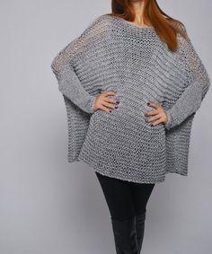 Suéter de la mujer de gran tamaño / Jersey en color por MaxMelody, $135.00