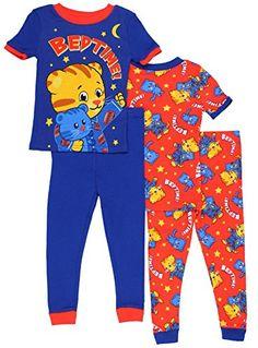 Amazon.com  Daniel Tiger Toddler Boys  4pc Cotton Sleepwear Set 58520d223