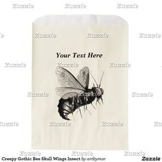 Creepy Gothic Bee Skull Wings Insect