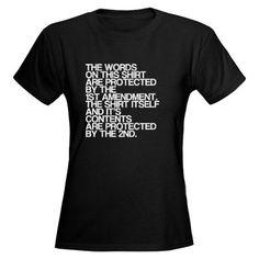 Funny, Pro Gun Rights Shirt, Women's Dark T-Shirt I need this shirt!