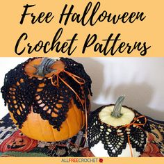 Free Halloween crochet patterns are perfect for making homemade decorations and DIY costumes. We even have afghans for Halloween you can make! Crochet Halloween Costume, Halloween Costumes To Make, Crochet Costumes, Homemade Halloween Decorations, Halloween Crafts, Crochet Baby Hat Patterns, Halloween Crochet Patterns, Crochet Ideas, All Free Crochet