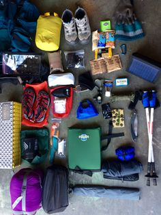 This is about it, I know you can not see what is in each stuff sack but this all has to fit. #backpacking #hiking #womenoutdoors #backcountry #gear #prepping