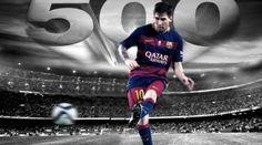 Messi cumple 500 partidos con la camiseta del Barcelona