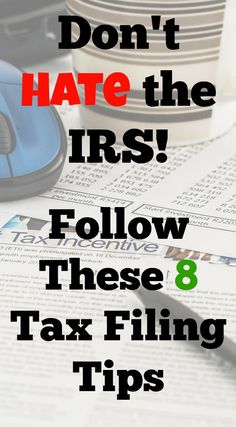 Here are 8 tax filing tips to help you get through tax season (without hating the IRS). Small Business Tax, Business Ideas, Online Business, Tax Help, Income Tax, Passive Income, Money Saving Tips, Money Hacks, Money Tips