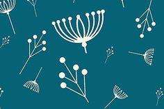 Designerstoffe USA - Birch Fabrics, Twig teal - ein Designerstück von stil-bluete bei DaWanda
