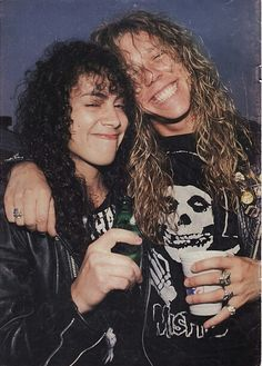 Adorable picture of James and Kirk! #JamesHetfield #KirkHammett