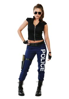 Protect the night in this Tactical Police costume! This is an exclusive costume, so you won't find this anywhere else. You'll be one of a kind!