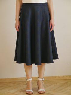 Spódnica półkloszowa w kratkę w Sister's na DaWanda.com