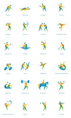Find this pin and more on. Icon Design, Logo Design, Graphic Design, Logos Gym, Gymnastics Logo, Olympic Logo, Sign System, Sport Inspiration, Video Games For Kids