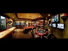 This state-of-the-art game room features an impressive array of electronic games, TV monitors, and lighting controls. Poker, pool, and shuffleboard are just a few of the available distractions - pic 1 of 3