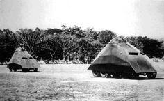 image: weird tank ufo shaped