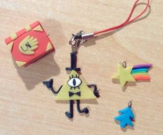 #polymerclay #gravityfalls Polymer Clay Miniatures, Fimo Clay, Polymer Clay Charms, Polymer Clay Projects, Polymer Clay Creations, Polymer Clay Art, Clay Crafts, Diy And Crafts, Biscuit