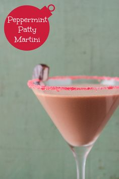 Peppermint Patty Martini Recipe ~ Made with peppermint schnapps, crème de cacao, cream and the secret ingredient — hot chocolate!