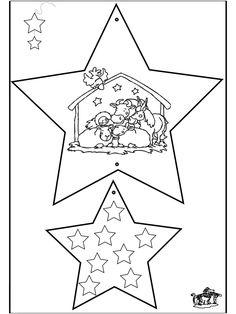 kleurprent ster zoeken kerst