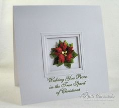 Spellbinders layered pointsettia + cards - Google Search
