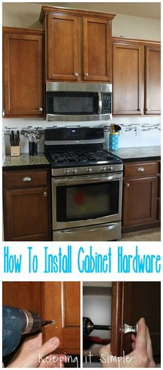 A nice tutorial on installing cabinet hardware and matching pulls from us at Keeping it Simple Crafts!