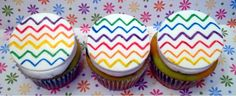 Chevron cupcakes by dusty