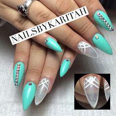 Stiletto Shape  by NailsbyKaritah - Nail Art Gallery nailartgallery.nailsmag.com by Nails Magazine www.nailsmag.com #nailart
