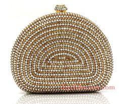 bridal evening bag clutch purse Glitter Clutch Bag Gold Bridal clutch Rhinestone clutch Prom - STUNNING sparkly wallet crystal bling clutch