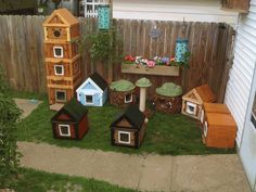 These are some of the wonderful custom cat houses that are made at stabobspethouses.net.