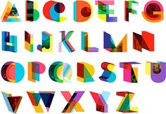 Colorful display typography by Brooklyn designer Dylan Mulvaney. As seen in Manhattan Magazine's The A to Z of NYC Design. (via FFFFOUND! Cool Typography, Typo Logo, Typography Letters, Typography Poster, Chinese Typography, Front Cover Designs, 3d Alphabet, Alphabet Charts, Alphabet Soup