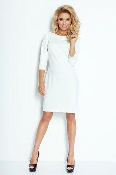 sukienki-Sukienka klasyczna LACOSTA  biała