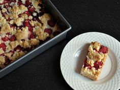 Raspberry crumb bars  from  Serious Eats
