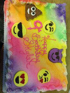 Emoji sheet cupcake cake and tied dye air brush
