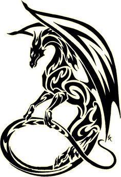 1000+ ideas about Tribal Dragon Tattoos on Pinterest | Dragon ...