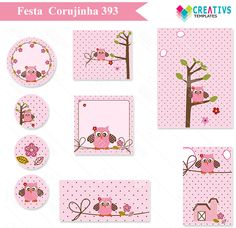 Festa Corujinha mod 393 - Infantil Menina | Creativstemplates