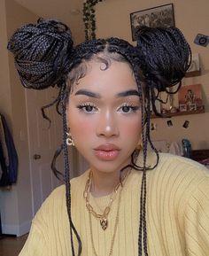 Black Girl Braided Hairstyles, Black Girl Braids, Braids For Black Hair, Girls Braids, Braids On Natural Hair, Baddie Hairstyles, Box Braids Hairstyles, Girl Hairstyles, Curly Hair Styles