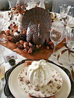 Thanksgiving Decorating - thanksgiving dinner table, beautiful, Gobble, gobble ,gobble.