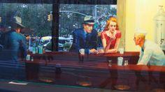 #IberiaSocialFlight Una recreación en Union Square de Nueva York del famoso cuadro de Edward hopper boulevard broken dreams P9221287 | Flickr: Intercambio de fotos