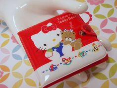 Vintage 80s Sanrio made in Japan Hello Kitty I Love My Teddy Bear Wallet. $28.00, via Etsy.
