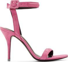 Alexander Wang Pink Suede Antonia Heeled Sandals